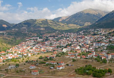 Karpenisi, Greece. The mountain town of Karpenisi, in central Greece Royalty Free Stock Images