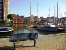 Karperkuil - the smallest harbor of Hoorn, Holland, the Netherlands Royalty Free Stock Image