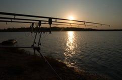 Karpfen-Fischen, Landschaft Lizenzfreies Stockfoto