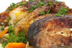 Karpfen gebacken im Ofen, Nahaufnahme Lizenzfreie Stockbilder