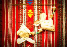 Karpfenhandwerk von Palmblättern Lizenzfreies Stockbild