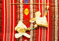 Karphantverk av palmblad Royaltyfri Bild
