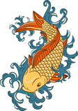 karpia rybi japoński koi styl Zdjęcie Stock