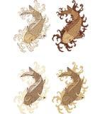karpia rybi japoński koi styl Zdjęcie Royalty Free