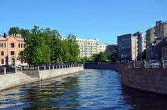 Karpovka river embankment Royalty Free Stock Photo
