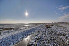 Karrendorfer Wiesen In Winter HDR Royalty Free Stock Photo