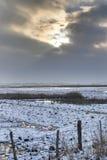 Karrendorfer Wiesen In Winter HDR Stock Images