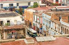 Karretje in Valparaiso Van de binnenstad Royalty-vrije Stock Afbeeldingen