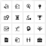 Karriär- och affärssymboler stock illustrationer