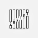 Karriärbegreppssymbol stock illustrationer