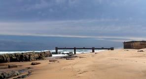 Karridene strand arkivfoton