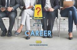 Karriere-Beschäftigungs-Einstellungsarbeits-Konzept lizenzfreie stockfotos