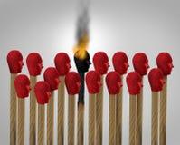 Karriere Burnout stock abbildung