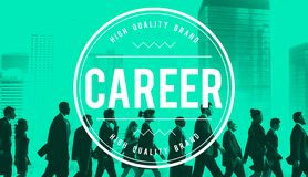 Karriere Job Occupation Expertise Employment Concept lizenzfreie stockfotografie