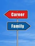Karriere oder Familie Lizenzfreie Stockbilder