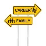 Karriere oder Familie vektor abbildung