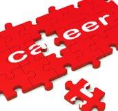 Karriere-Puzzlespiel, das Arbeitspläne zeigt Lizenzfreies Stockbild
