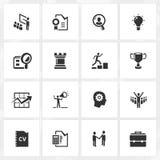 Karriere-und Geschäfts-Ikonen stock abbildung