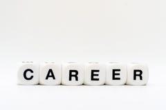Karriere, Würfelbuchstaben Stockbild