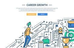 Karriere-Wachstumslinie flache Designwebsitefahne stock abbildung