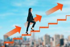 Karriereentwicklung und aufsteigen Konzept stockbilder