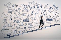 Karriereentwicklung und aufsteigen Konzept lizenzfreies stockbild