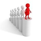 Karrieregeschäftsleute Schritte zur Erfolgsleiter Lizenzfreie Stockfotos