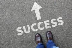 Karrieregeschäftsmann-Geschäftsmann-Konzept leade des Erfolgs erfolgreiches Stockfoto