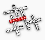 Karrierekreuzworträtsel Stockbild