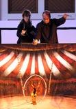 Karromato hölzerner Zirkus bei Bahrain, 29. Juni 2012 Lizenzfreie Stockfotografie