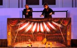 Karromato hölzerner Zirkus bei Bahrain, 29. Juni 2012 Stockfotos