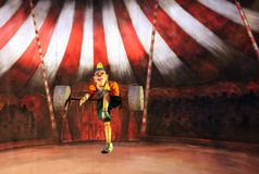 Karromato wooden circus at Bahrain, June 29, 2012 Royalty Free Stock Image