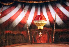 Karromato wooden circus at Bahrain, June 29, 2012 Royalty Free Stock Images