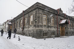 Kars city of Turkey under snow during winter. Stock Photos
