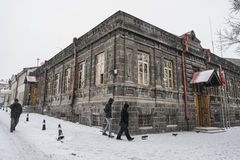 Kars city of Turkey under snow during winter. Stock Image