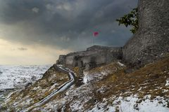 Kars slott i Kars royaltyfri foto