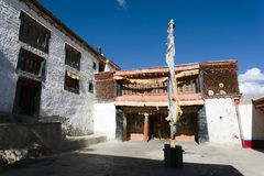 Karsha gompa - buddhist monastery in Zanskar valley - Ladakh Royalty Free Stock Photos