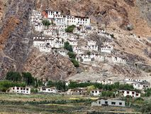 Karsha gompa - buddhist monastery in Zanskar valley - Ladakh Stock Photos