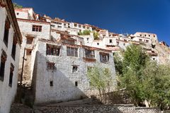 Karsha gompa - buddhist monastery in Zanskar valley - Ladakh - India Royalty Free Stock Photos