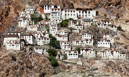 Karsha gompa - buddhist monastery in Zanskar valley - Ladakh - India Royalty Free Stock Photo