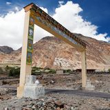 Karsha gompa - buddhist monastery in Zanskar valley Royalty Free Stock Photo
