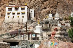 Karsha gompa - buddhist monastery in Zanskar valley Stock Photos