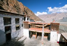 Karsha gompa - buddhist monastery in Zanskar valley Stock Photos