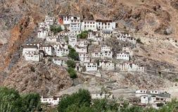 Karsha gompa - buddhist monastery in Zanskar valley Stock Image
