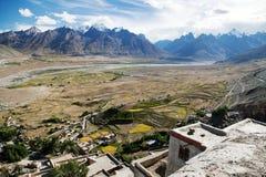 Karsha gompa - buddhist monastery in Zanskar valley Royalty Free Stock Images