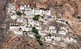 Karsha gompa - buddyjski monaster w Zanskar dolinie Obrazy Stock