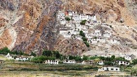 Karsha gompa - Zanskar谷-拉达克-印度 免版税库存照片
