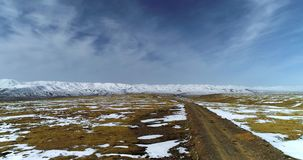 Karspoor op het Tibetaanse Plateau stock footage