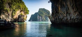 Karst cliffs in Andaman Sea Stock Photo
