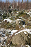 Karst formations – Stolowe Mountains - Poland Stock Image
